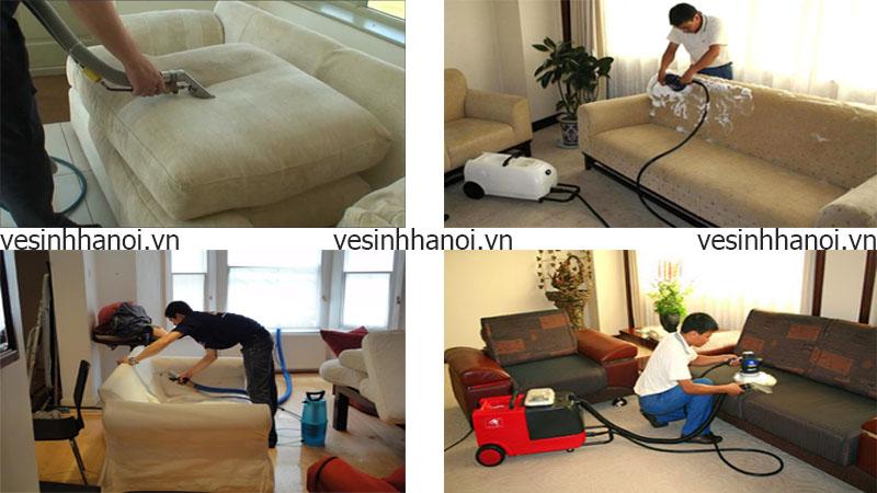 Hình ảnh vệ sinh ghế sofa