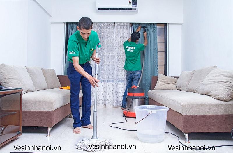 Hình ảnh vệ sinh nhà cửa (giai đoạn thô)